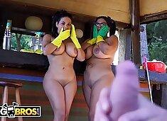 BANGBROS - Hot Latina Maids Sheila Ortega and Kesha Ortegas Get Their Big Asses Fucked
