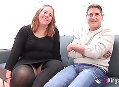 A chubby couple comes from Parejas.NET to their first porn scene. 'My God, I am so wet'