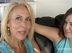 These slutty cougars prove that it's never too late to try porn
