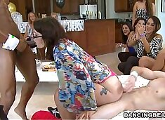Thrilling cock engulfing party