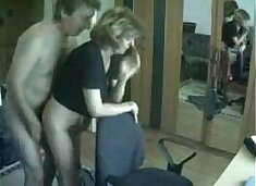 Mommy and daddy caught having fun by hidden cam
