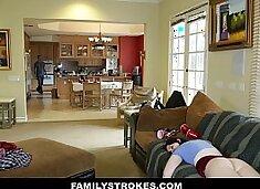 FamilyStrokes - Cumming Home To New Step Sister (Maya Kendrick)
