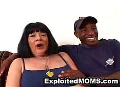 Amateur Granny rides long big black dick in Mature Sex Video