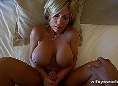 Wifey Gets Tits Creamed In Vegas