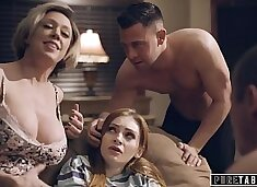 PURE TABOO Step-Parents & Step-Bro Welcome New Sister to Perv Family