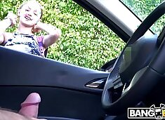 BANGBROS - Flashed Dick At Precious Blonde Girl Walking Down The Street