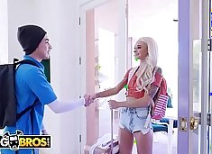 BANGBROS - Petite Canadian Babe Emma Hix Gets Fucked By Juan El Caballo Loco