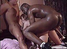 Interracial Threesome with Magerita