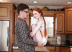 DON'T FUCK MY DAUGHTER - Petite Redhead Teen Dolly Little Fucks Her Big Dick Tutor Bruce Venture