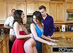 Whoring Wives Melissa Moore & Riley Reid Swap Husbands at Dinner Party
