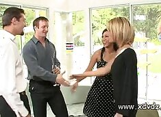 Sexy Housewives Holly Wellin And Kayme Kai Switch Their Husbands For One Afterno