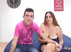 Shy young couple shows their secrets in their first porno