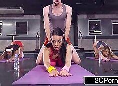Busty French Cutie Sophia Laure Doing Sweaty Ass Workout