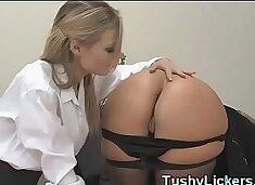 Office ass licking