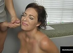 Husband's Employer Gets Milf Charlee Chase To Suck His Cock!