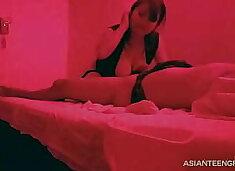 (hidden camera) Asian massage, blowjob and sex