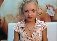 Cute Young Blonde Webcam Strip