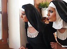 Two nuns enjoying sexual adventure