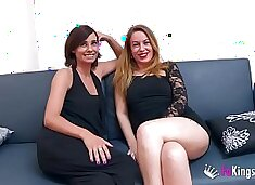 Chatting with 'em: Natalia and Lucia, two hot milfs who are hungry of young meat